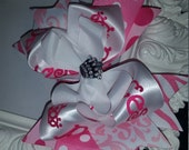 Princess Crown Spikey Layered Boutique Bow and Headband..Great for Newborn Toddler big Girl