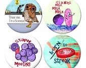 Microbiology Magnet Set 1 - Pack of 4 Magnets by Pithitude