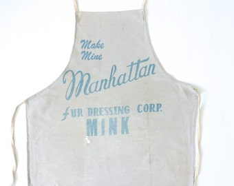 Manhattan Fur Dressing Corp Mink Full Body Apron 1920s