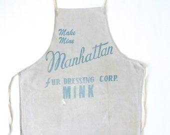 Manhattan Fur Dressing Corp Mink Full Body Apron 1920s