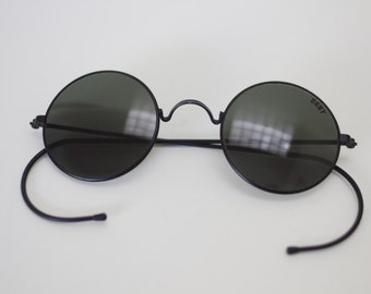 90s DKNY Black Round Circle Sunglasses