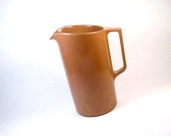 Brown Melmac Pitcher - MINT