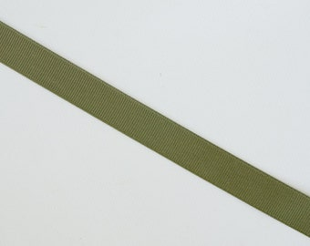 """Olive Green Grosgrain Ribbon, 5 or 10 yards of 5/8"""""""