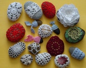 Handmade Crochet stones printing picture,crochet decor,number 3