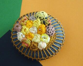 Lace Stone, Crocheted, Original, Handmade, Crochet Covered Beach Stones-home decor ,decoration-Wedding, Folk Art,Fall decor