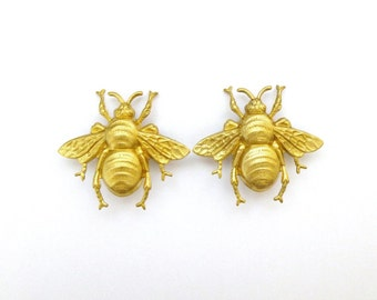 Gold Bee Hair Clips Bee Barrettes Bee Hair Accessories Bumble Bees Bumblebees Insect Girl Hair Accessories Girl Barrettes Girl Hair Clips