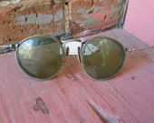 Antique Vintage Retro Funky Steam Punk Goggles Green lenses