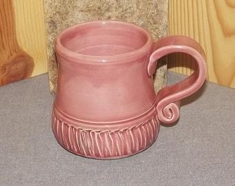 Original Hand Thrown Stoneware Pottery Coffee Cup  12 oz