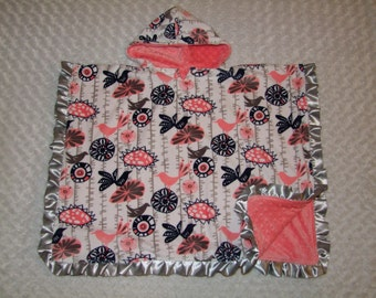 Car Seat Cozy PONCHO- Car Seat Safe- All MINKY- Ships in 1-3 Days