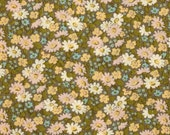 Changing Pad Cover - Pink Green Nursery Bedding / Folk Floral Baby Bedding / Contoured Changing Pad Cover / Diaper Pad Cover