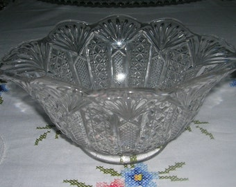 Vintage EAPG Mayonnaise Bowl US Glass Panama Pattern Circa 1904