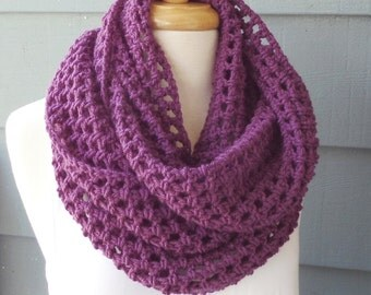 PATTERN S-083 / Crochet Pattern / Nora Infinity ... worsted 320 yards