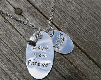 15% off - Love You Forever...Custom Sterling Mothers Necklace (1 tag)