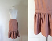 vintage 1940s skirt - CHAI SPICE brown trumpet skirt / XS