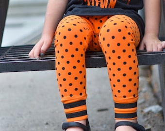 Halloween Town Leggings 2t  - Made to order