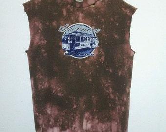 San Francisco T Shirt / Muscle Tee / Graphic T Shirt / Distressed / Indie / Grunge / Rock N Roll / Festival / Unisex / Women / Men