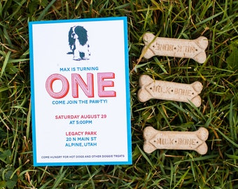 Puppy Pawty Birthday Invitation - Digital Printable - 4x6