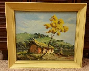 Mid Century Brazilian Landscape Oil Painting