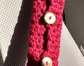 Crochet seatbelt cover