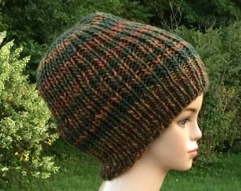 Blue Rasta Hat  - Slouchy Beanie - Dread Hat - Knit Slouch Beanie -  Dreadlock Cap - Chunky Slouch Beanie - Indian Red Dreadlock Hat