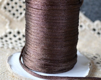 1.5mm 5 yards Satin Cord Brown Cord For Necklace Pendants And Bracelets In Your Choice Of 18 Colors