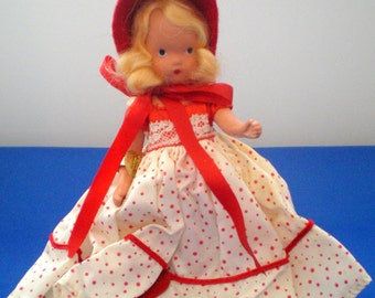 Vintage Story Book Doll**Queen of Hearts**With Stand**
