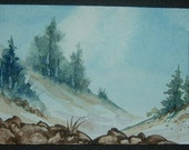 art painting aceo watercolour landscape ref 245