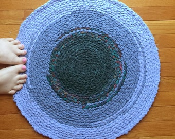 HEIRLOOM Round Rug - blue ombre