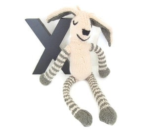 Spring Bunny knitted toy
