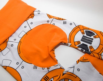 BB8 Star Wars Maxaloones - Baby Leggings - Cloth Diaper Pants  - Toddler Pants - Grow with Me - Monkey Butt Pants - Baby Pants
