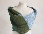 Inverness - blanket throw, and infinity scarf knit with super chunky and warm mohair cotton silk