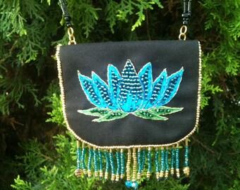 Lotus Medicine Prayer Bag Necklace