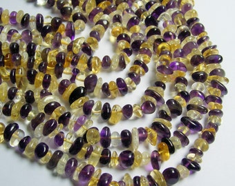 Amethyst Citrine mix gemstone bead - full strand - pebble  chip stone - A quality - PSC172