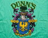 Dunn's Ports Spirits T-Shirt, Leix Ireland Medieval Crest, Vintage 80s