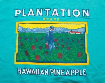 Plantation Brand Hawaiian Pineapple T-Shirt, Vintage 80s-Early 90s