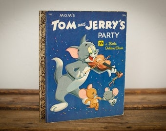 Tom & Jerry's Party, Little Golden Book 235, MGM Studios, Vintage 70s