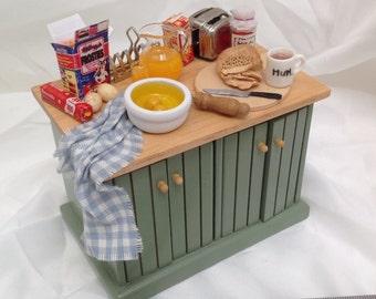 Dolls House Miniatures - Breakfast kitchen Unit - NEW AUTUMN 2015