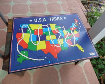 Vintage Game  Boards lot of 3 Aggravation 1977 USA Trivia 1984, Donald Duck Capture the Monkeys for decor, game room, repurpose project