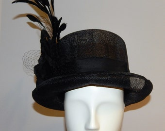 Kentucky Derby Black Sinamay Riders/ Top Hat