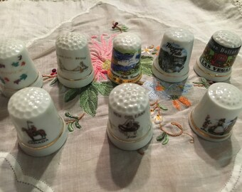 Set of 8 thimbles