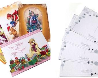 SALE!!!- Christmas - postcard set of 4