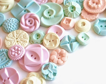 50 Peppermint Candy Buttons... a handmade candy / as seen in Martha Stewart Weddings and Martha Stewart Living