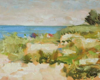Original Plein Air Oil Painting Manasota Key Beach