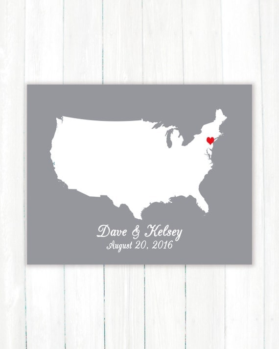 Wedding Gift List Usa : ... United States of America Wedding Guest Book Poster-Bridal Shower Gift