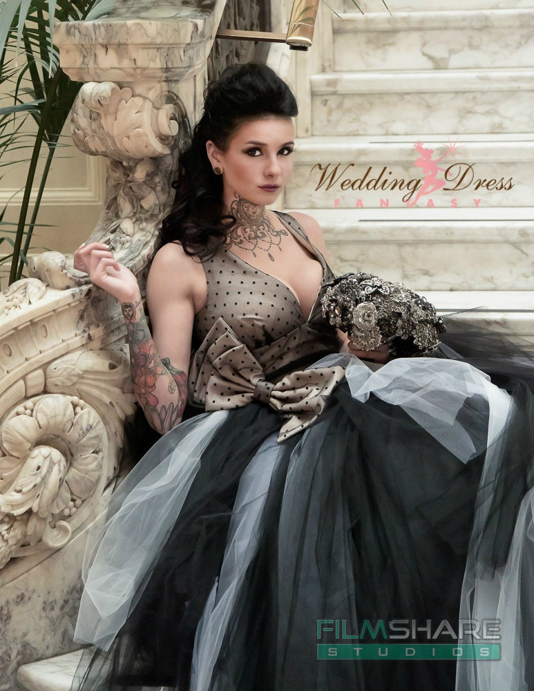 Couture vintage gothic wedding dress retro by for Vintage gothic wedding dresses