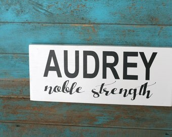 Baby name meaning etsy name meaning sign for baby baby room decor nursery decor baby gift negle Gallery