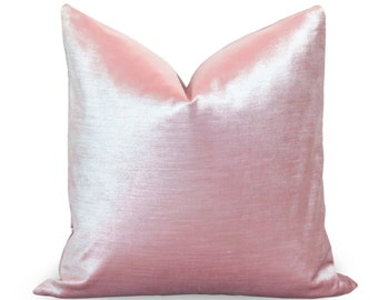 Pink Velvet Pillow Cover - Glisten Velvet - Blush Velvet Pillow - Light Pink Pillow - Decorative Pillow - Velvet Pillow - Throw