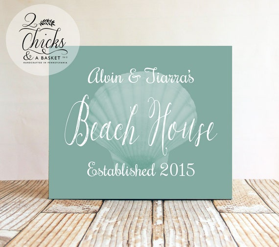 Personalized Beach House Plaques: Custom Family Beach House Sign Personalized Beach House Sign