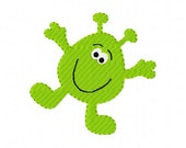 Little Alien Space Guy Machine Embroidery Design Joyful Stitches