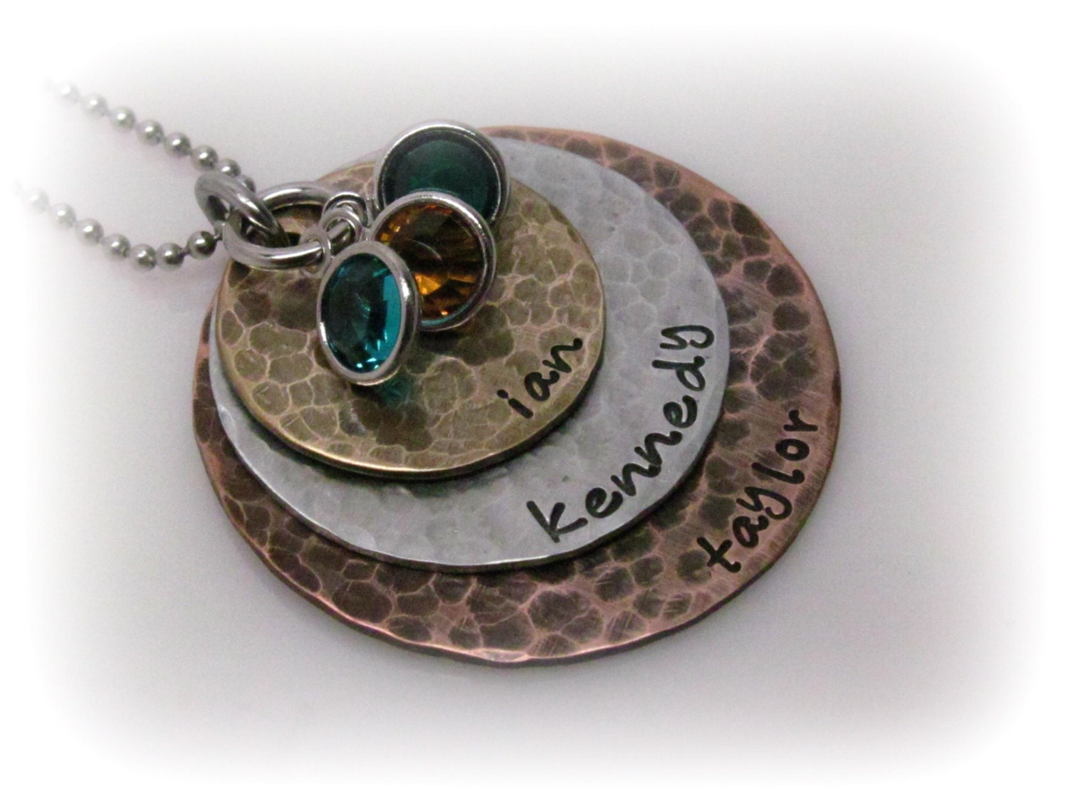 Personalized hand stamped necklace rustic jewelry hand stamped for How do you make hand stamped jewelry